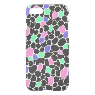 'Spot of Sherbet' Boho Paint Pattern Clear iPhone 7 Case