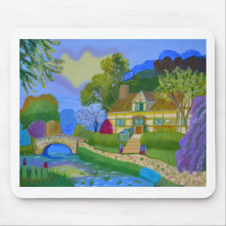Spring Cottage Mouse Pad