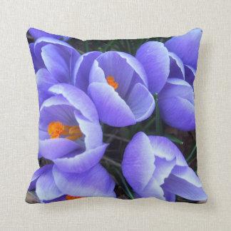 Spring Crocus CricketDiane Purple Flowers Throw Cushion