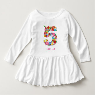 Spring Flowers Garden Five Girl 5th Birthday Party Shirts
