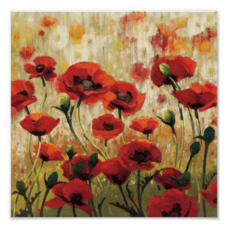 Spring Flowers in a Garden Poster