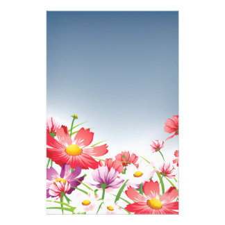 Spring Flowers Stationary Personalized Stationery