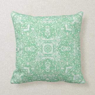 Spring Green Maze Kaleidoscope Pillow Throw Cushion
