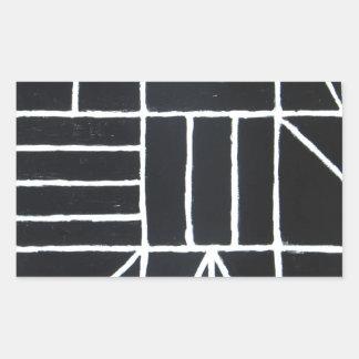 Square Dance ( line minimalism ) Rectangular Sticker