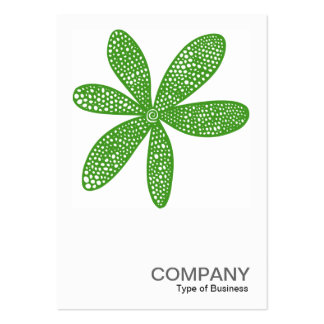 Square Photo 0215 - Pretty Flower - Avocado Green Pack Of Chubby Business Cards