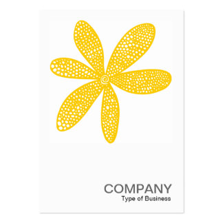 Square Photo 0218 - Pretty Flower - Amber Pack Of Chubby Business Cards