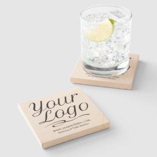 Square Sandstone Coaster with Custom Business Logo Stone Beverage Coaster
