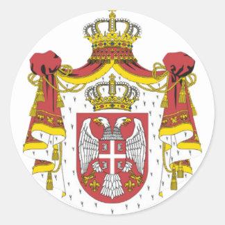 Srbija Grb -  Veliki / Serbian Coat of Arms - Big Round Sticker
