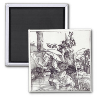 St.Christopher carrying the Infant Christ, 1511 Square Magnet