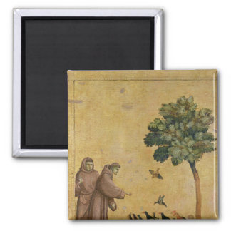 St. Francis of Assisi preaching to the birds Square Magnet