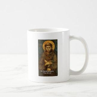 St. Francis Tie, Hat, Mug, Bumper Sticker Basic White Mug
