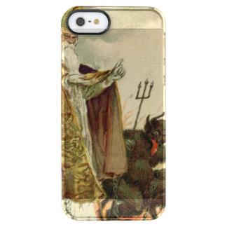 St Nicholas Krampus Pitchfork Priest Clear iPhone SE/5/5s Case