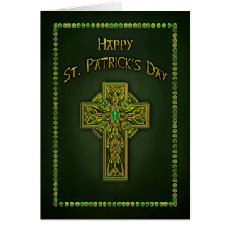 ST. PATRICK'S DAY - CELTIC CROSS GREETING CARD