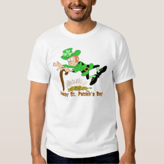 St Patrick's Day Leprechaun Gold Tee Shirt
