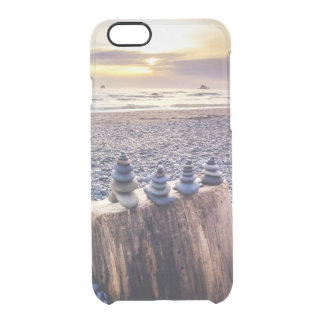 Stacked Rocks at Sunset Clear iPhone 6/6S Case