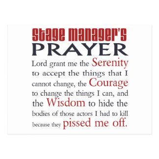 Stage Manager's Prayer Postcard