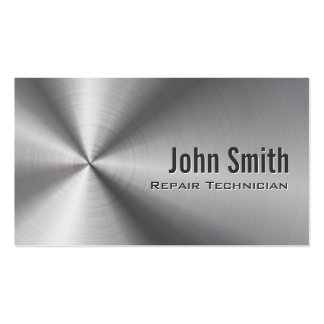 Stainless Steel Repair Technician Business Card