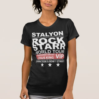 STALYON ROCK STARR JESUS VIP T-SHIRTS