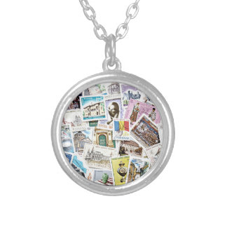 Stamp On Me Round Pendant Necklace