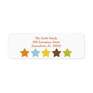 Star Celebrations Return Address Labels