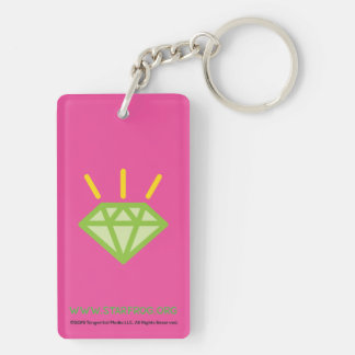 STAR*FROG™ Gem Double-Sided Rectangular Acrylic Key Ring