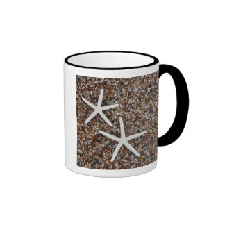 Starfish skeletons on Glass Beach Ringer Mug