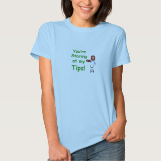 Staring at my tips women's T-shirt