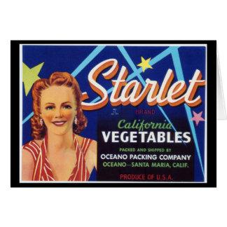 Starlet Vegetables - Greeting Card