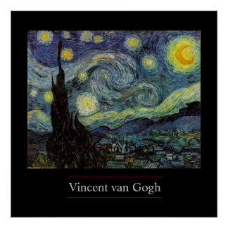 Starry Night by van Gogh Post-Impressionist Poster
