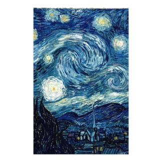 Starry Night By Vincent Van Gogh Customized Stationery