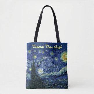 Starry Night Vincent van Gogh Impressionist Art Tote Bag