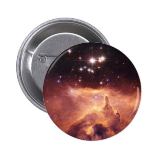 Stars in deep space 6 cm round badge