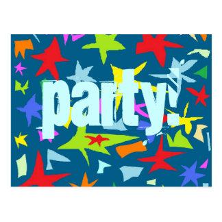 Stars Kids Birthday Party Invitation Postcard