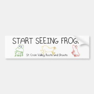 Start Seeing Frogs Bumper Sticker
