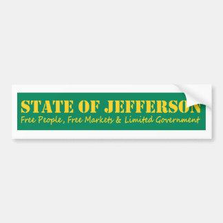 State of Jefferson bumber sticker Bumper Sticker