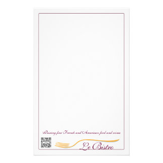 Stationery Template Fine Dining French