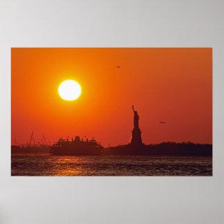 Statue of Liberty, New York Harbor, NY, USA, Poster