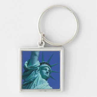 Statue of Liberty, New York, USA 8 Silver-Colored Square Key Ring