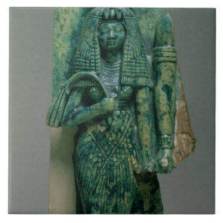 Statuette of Queen Tiye, wife of Amenophis III, Ne Large Square Tile