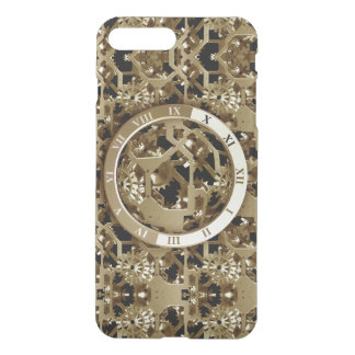Steampunk Clocks Gold Gears Mechanical Gifts iPhone 7 Plus Case