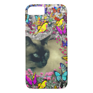 Stella in Butterflies Chocolate Point Siamese Cat iPhone 7 Case