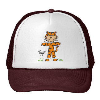 Stick Figure In Tiger Suit Hat