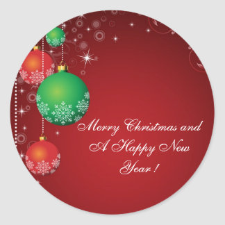 """Sticker """" Merry Christmas and a Happy New Year ! """""""