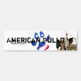 Sticker Unikat Nelly American Bulldog Bumper Sticker