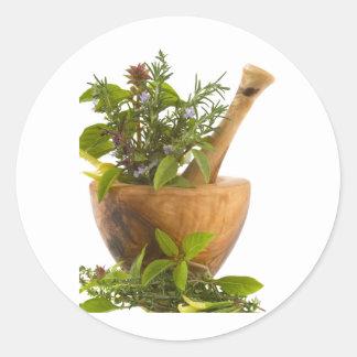 Stickers--Herbs Round Sticker