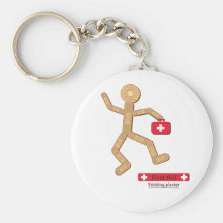 Sticking plaster Figure bags.ai Basic Round Button Key Ring