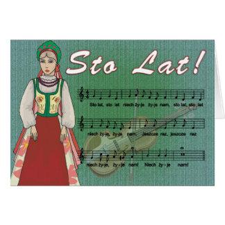 Sto Lat Song Card
