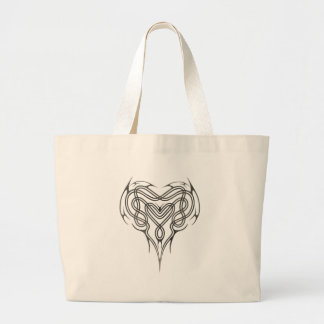 Stone Celtic Heart Knot Jumbo Tote Bag
