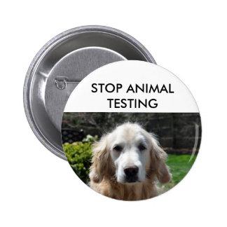 Stop Animal Testing Dog Pin