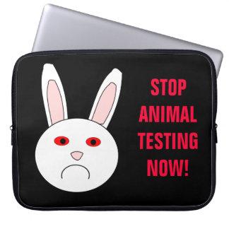 Stop Animal Testing Now Laptop Bag Laptop Computer Sleeve